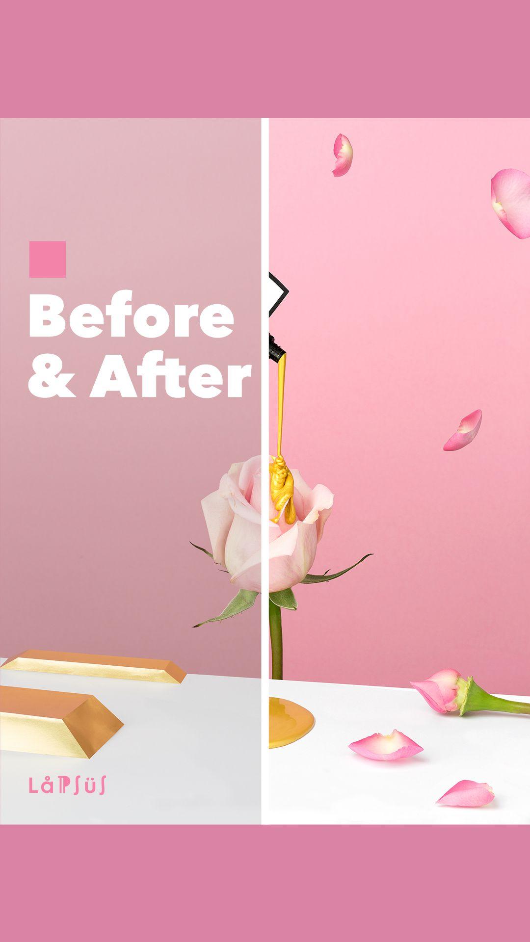 Antes y después - el proceso de diseño gráfico de Lapsus